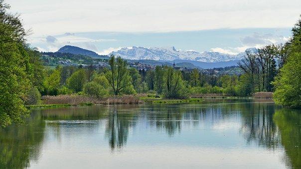 Landscape, Switzerland, Aargau, Nature Reserve, Reuss