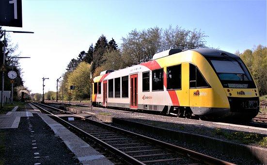 Railcar, Signal, Rails, Gravel, Threshold, Railways