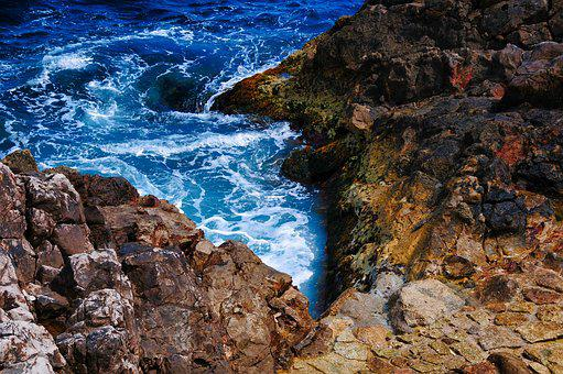 Creek, Sea, Roche, Rock, Side, Nice, South, Holiday