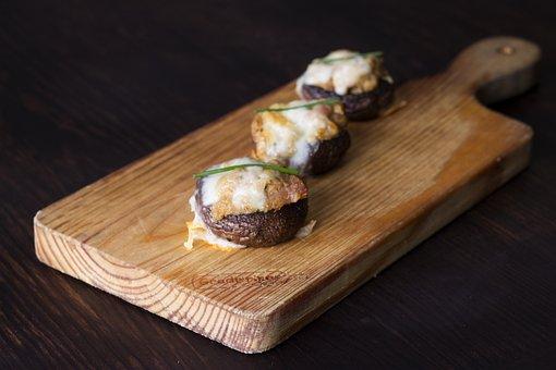 Mushrooms, Stuffing, Tasty, Cheese, Dinner, Dlicious