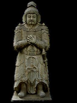 Statue, Warrior, Chinese, Monument, Sculpture