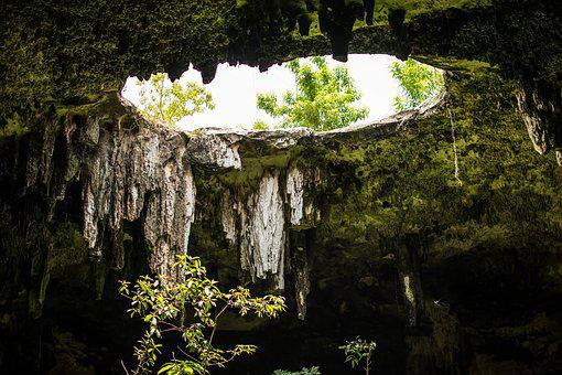 Hole, Cenote, Cave, So, Underground, Yucatan, Pierre