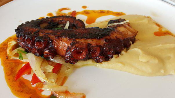 Anna Norman, Octopus, Grilled, Chili Oil, Food