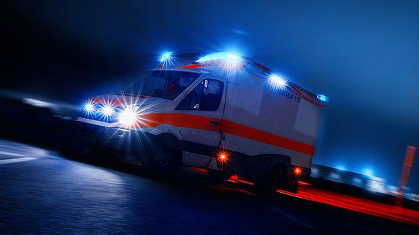 Ambulance, Rescue, Emergency, Blue Light, Fire, Medic