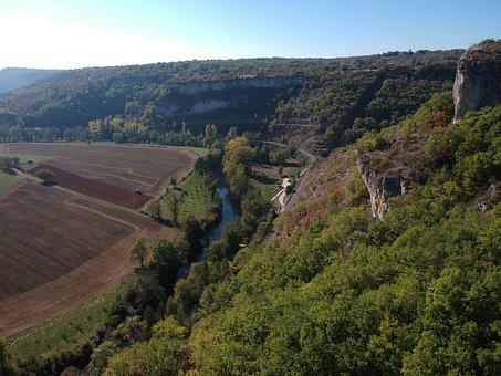 France, Lot, Cele, Ressel, Cave, Landscape, Na, Nature