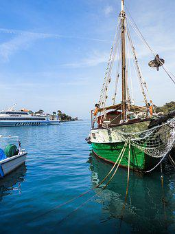 Naples, Boat, Italy, Water, Sea, Landscape, Tourism