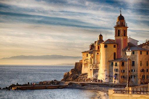 Camogli, Liguria, Italy, Sea, Tourism, Summer, Holidays
