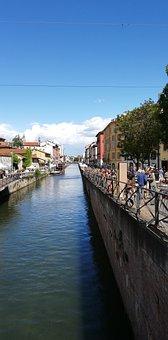 Milano, Italy, Milan, City, Sightseeing, Naviglio