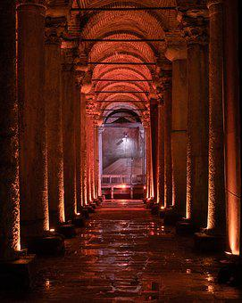 Yerebatan, On, Museum, Ancient, Old, Architecture