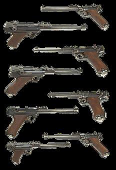 Gun, Parabellum P 08, Borchardt-luger