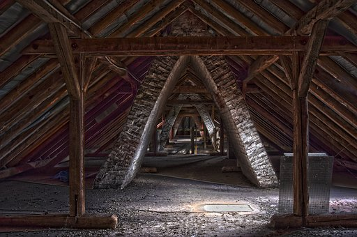 Lost Places, Building, Roof Truss, Architecture, Roof