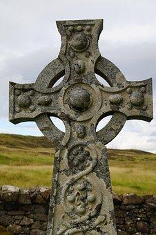 Celtic, Celtic Cross, Scotland, Cross, Cemetery