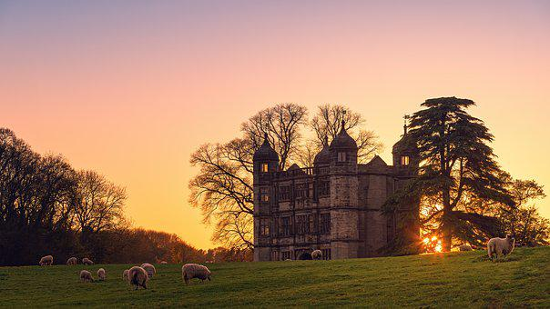Tixall Gateway, Stafford, Uk, Sunset, Castle, England