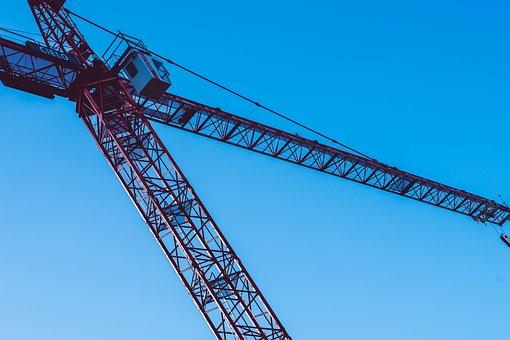 Crane, Metal, Boom, Transport, Raise, Technology