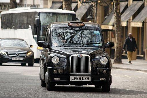 Taxi, Cab, Traffic, London, Travel, Car, Transport