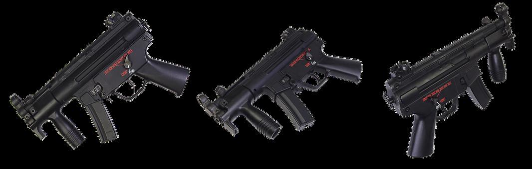 The Gun, Portable Machine, Weapons, Army, Military, War