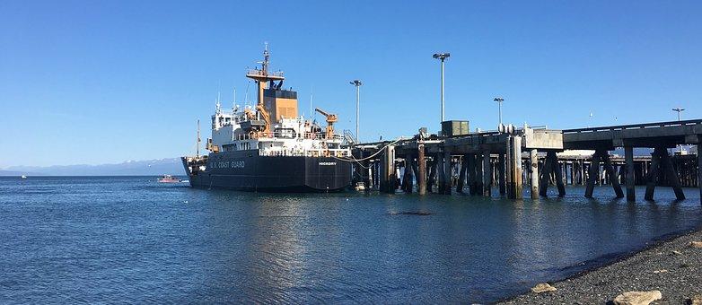Coast Guard Cutter Hickory, Homer, Alaska, Dock, Ship