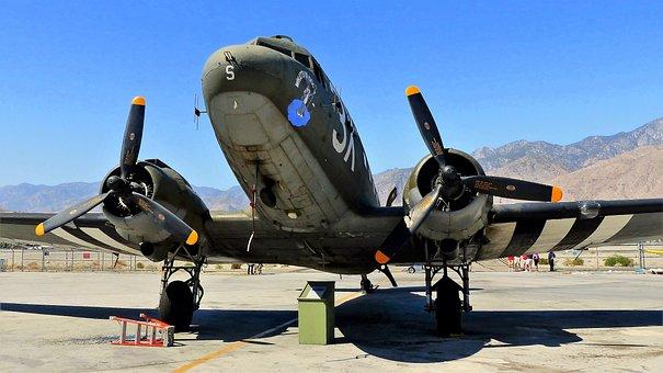 Aircraft, War, Military, Propeller, Bomber, American