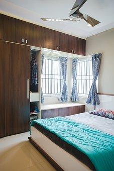 Bedroom, Interior, Furniture, Bed, Home, Room, Bedding