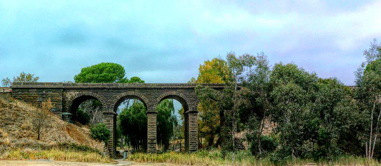 Viaduct, Railway, Architecture, Bridge