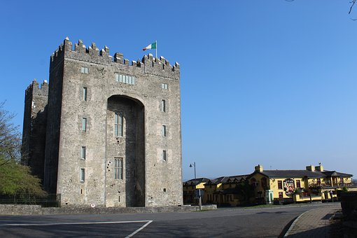 Bunratty, Nellies, Blue, Architecture, Building