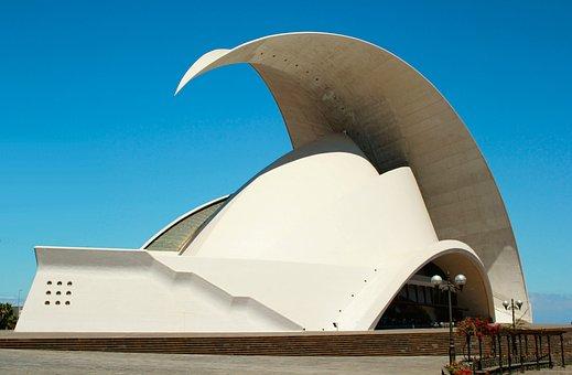 Auditorium, Tenerife, Building, Hall, Concert