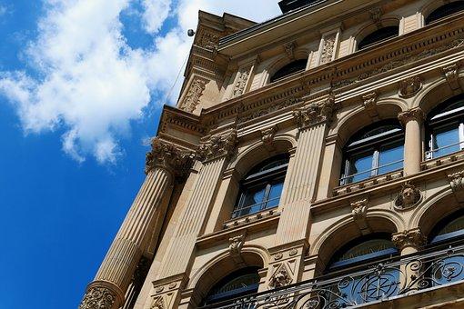 Frankfurt, Building, Facade, Architecture, Downtown