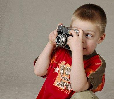Camera, Child, Studio Photography, Young, Photographer