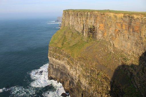 Cliffs, Moher, Sea, Nature