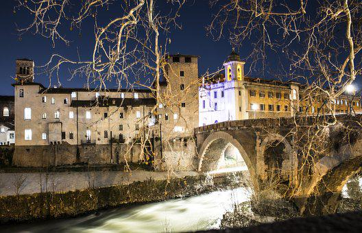 Roma, Denimira, Borisova, Night, City, Lights