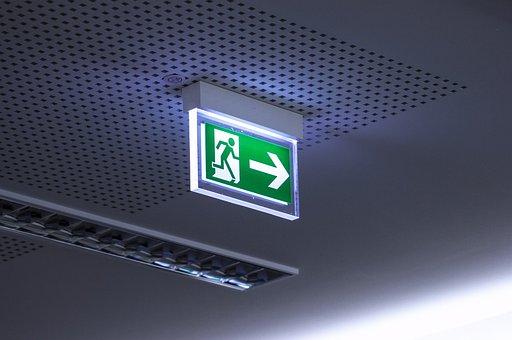 Emergency Exit, Escape, Fire, Evacuation, Security