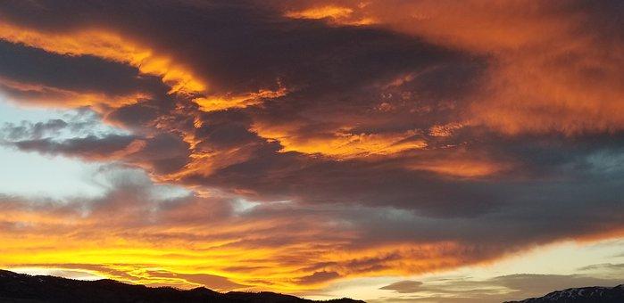 Sunset, Sky, Clouds, Evening Dusk, Landscape, Scenic