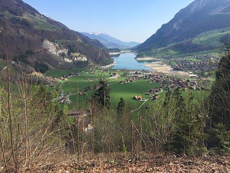 Lake, Switzerland, Mountains