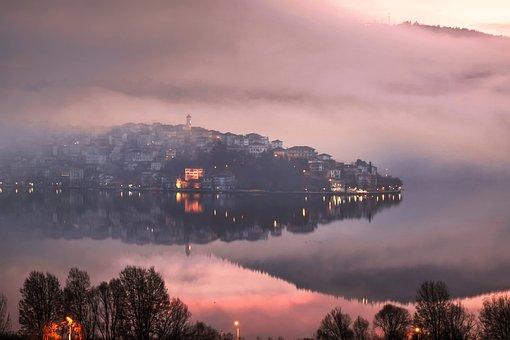 Greece, Nature, Lake, Landscape, Water, Sky, Mood