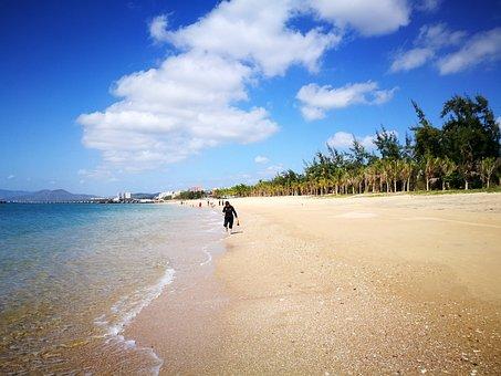Hainan, Sanya, Tianya Town, Beach, Nature, Sea, Outdoor