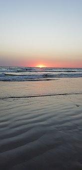 Sunset, Atlantic, Sun, Beach, France, Island