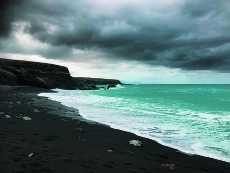 Black Beach, Beach, Fuerteventura, Black, Water, Nature