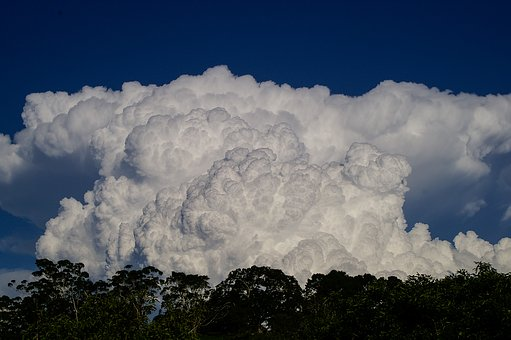 Cloud, White, Blue, Dramatic, Shape, Weather, Sky