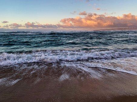 Eternal, Tides, Wind, Surf, Sand, Sunset