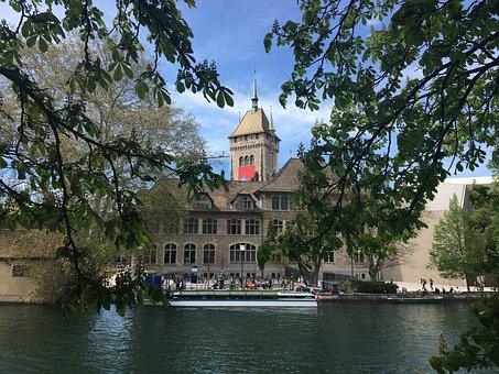Museum, River, Zurich