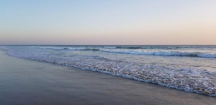 Sunset, Beach, Atlantic, France, Island