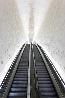 Escalator, Structure Light, Building, Shadow