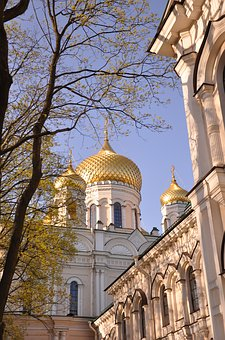 Church, Dome, Gold, Cross, Cathedral, Golden