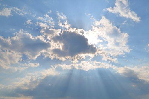 Cloud, Sunshine, Clouds, Sky, Mood, Rays, Light