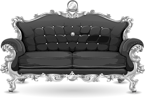 Couch, Sofa, Loveseat, Grey, Gray, Seat, Seating