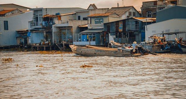 River, Dimensional Landscapes, The Sun, Mekong River