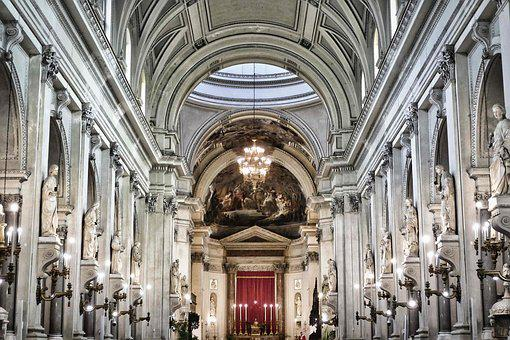 Cathedral, Dom, Interior, Baroque, Architecture