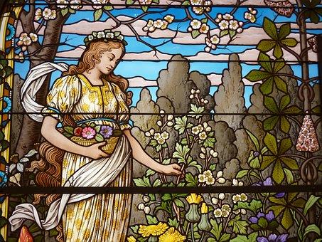 Reverse Painting On Glass, Glass Art, Window, Art