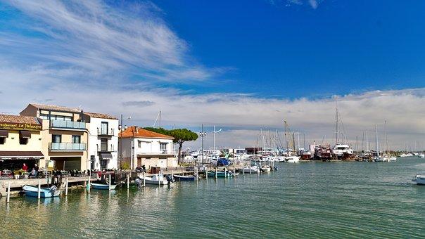 Le Grau Du Roi, South, France, Landscape, Boats