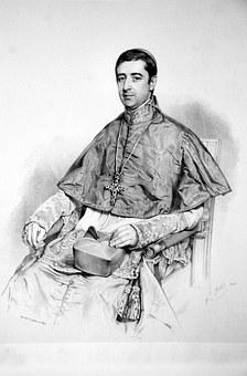 Ludwig Altieri, Lithographie, Portrait, Person, Man
